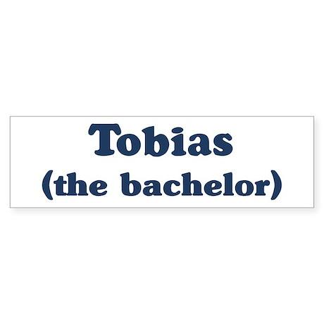 Tobias the bachelor Bumper Sticker