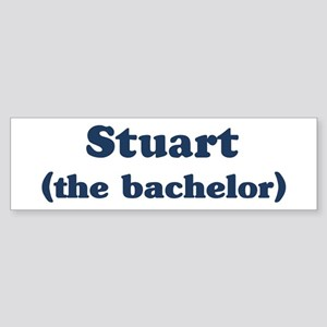 Stuart the bachelor Bumper Sticker