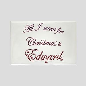 Edward for Christmas Rectangle Magnet