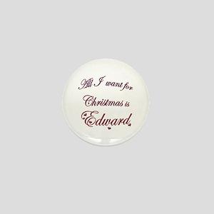 Edward for Christmas Mini Button