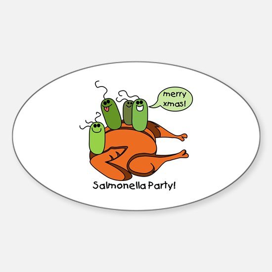 Salmonella Party Oval Decal