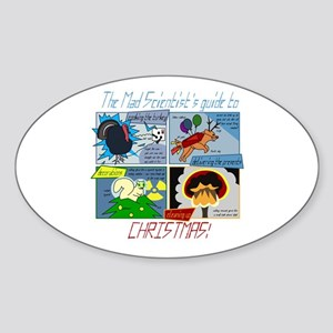 Xmas Evil Genius Oval Sticker