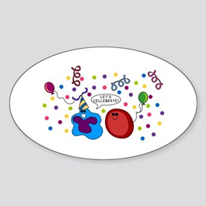 Let's Cellebrate Oval Sticker