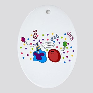 Let's Cellebrate Oval Ornament