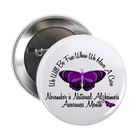 "Alzheimers Awareness Month 3.2 2.25"" Button"