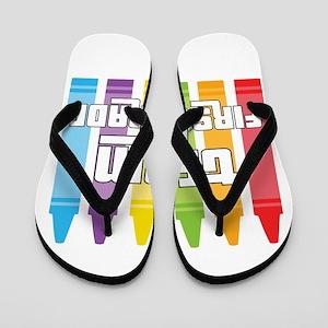 Team First Grade Flip Flops