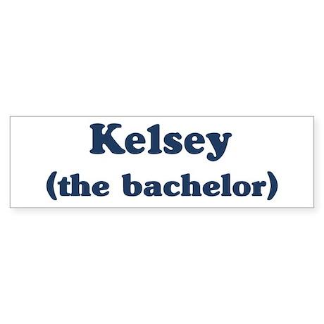 Kelvin the bachelor Bumper Sticker