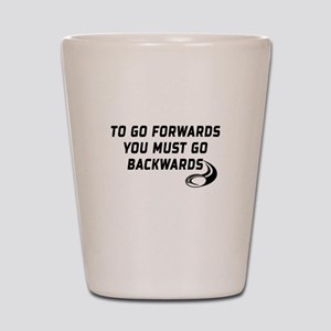 Rugby Go Backwards Quote Shot Glass