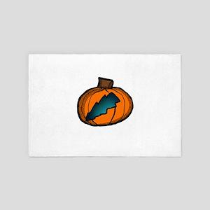 Lightningbolt Pumpkin 4' x 6' Rug