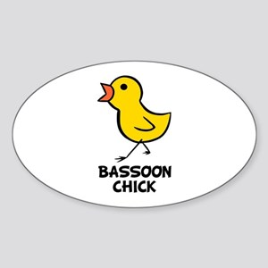 Bassoon Chick Oval Sticker