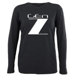 Generation Z Gen Z Plus Size Long Sleeve Tee
