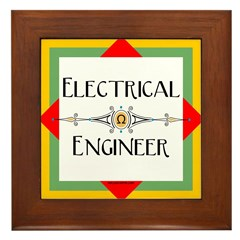 Electrical Engineer Line Framed Tile