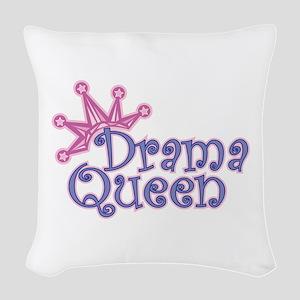 Drama Queen Woven Throw Pillow