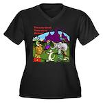 Circus Women's V-Neck Dark Plus Size T-Shirt