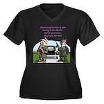Gangster Women's V-Neck Dark Plus Size T-Shirt