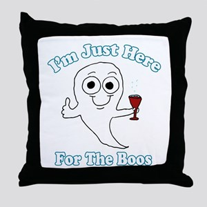 I'm just here for the boos Throw Pillow
