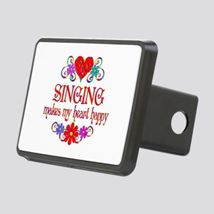 Singing Happy Heart Rectangular Hitch Cover