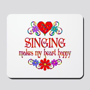 Singing Happy Heart Mousepad