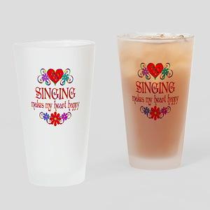 Singing Happy Heart Drinking Glass