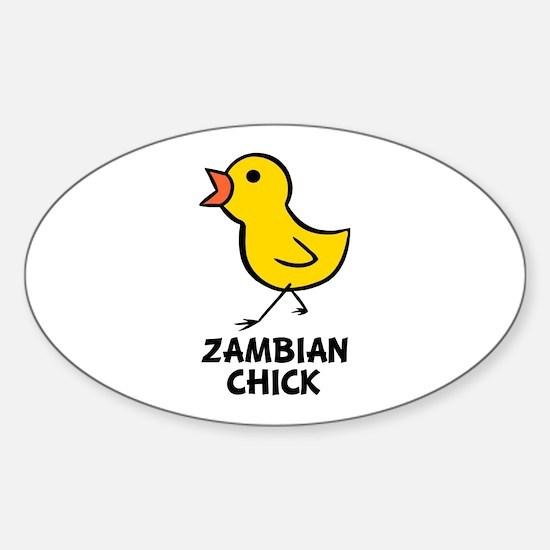 Zambian Chick Oval Decal