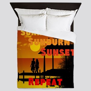 Sunrise Sunburn Sunset Queen Duvet