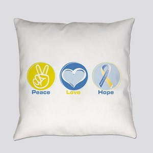 Peace Love Ds Hope Everyday Pillow
