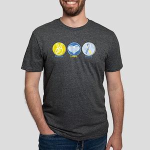 Peace Love DS hope Mens Tri-blend T-Shirt