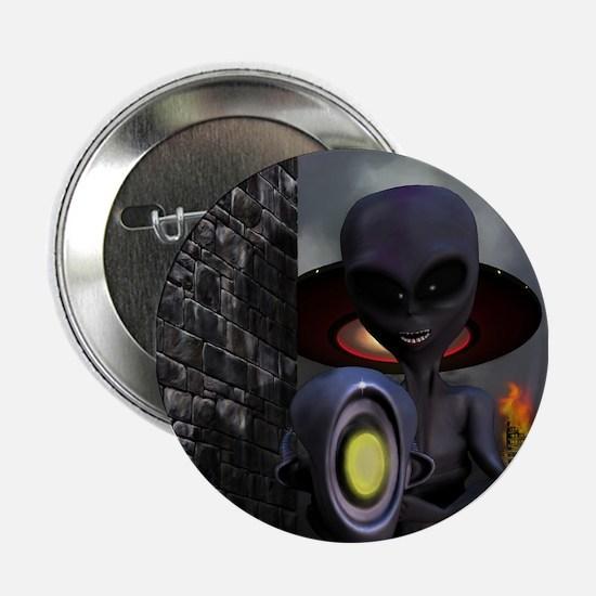 """Evil Aliens 2.25"""" Button"""