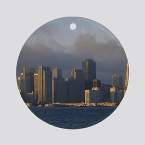 San Francisco as Fog Lifts Ornament (Round)