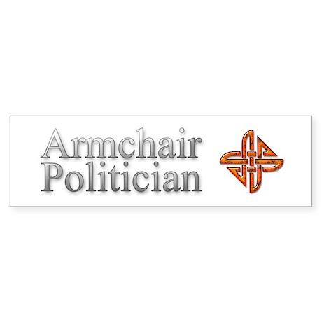 IA's Armchair Politician Bumper Sticker