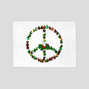 Christmas Peace 5'x7'Area Rug