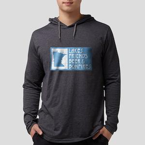 Minnesota Lakes Friends Beer B Long Sleeve T-Shirt