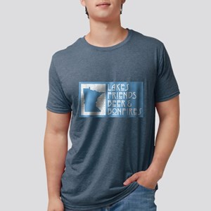Minnesota Lakes Friends Beer Bonfires T-Shirt