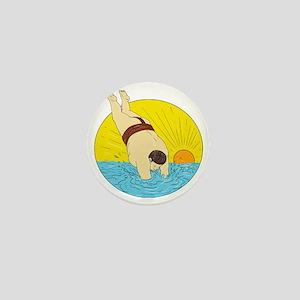 Japanese Sumo Wrestler Diving Sea Sunset Circle Dr