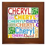 Personalized Cheryl Framed Tile