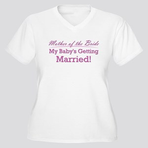 Cute Mother of the Bride Women's Plus Size V-Neck