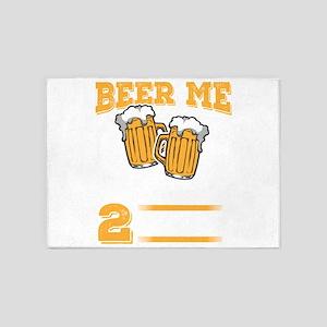 Wedding Anniversary Beer me I Just 5'x7'Area Rug