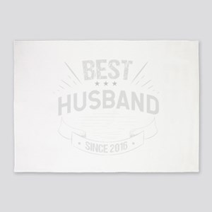 Second Wedding Anniversary Best Hus 5'x7'Area Rug