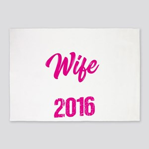 Second Wedding Anniversary Best Wif 5'x7'Area Rug