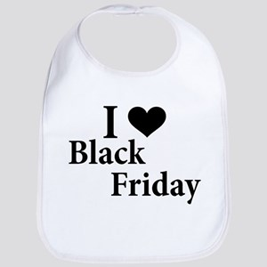 I Love Black Friday Bib