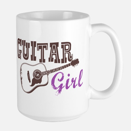 Guitar girl Large Mug