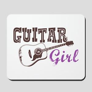 Guitar girl Mousepad