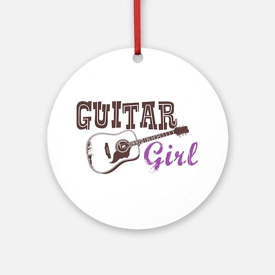 Guitar girl Ornament (Round)