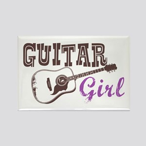 Guitar girl Rectangle Magnet