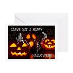Carve Out A Happy Halloween Greeting Cards