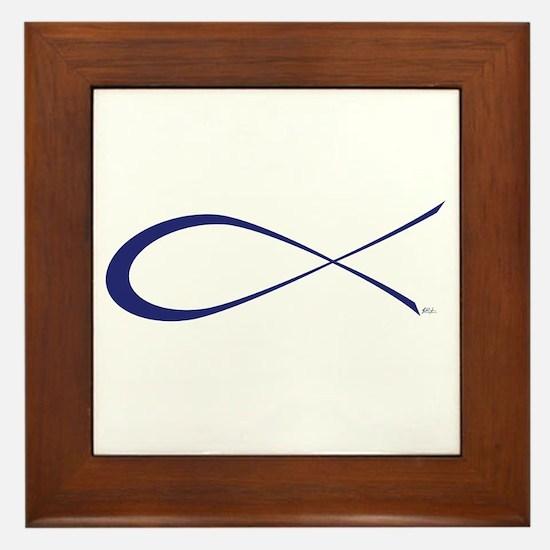 Ichthys (Jesus Fish) Framed Tile