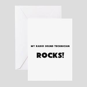 MY Radio Sound Technician ROCKS! Greeting Cards (P