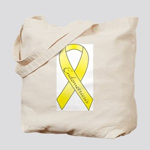 Endometriosis Ribbon Tote Bag
