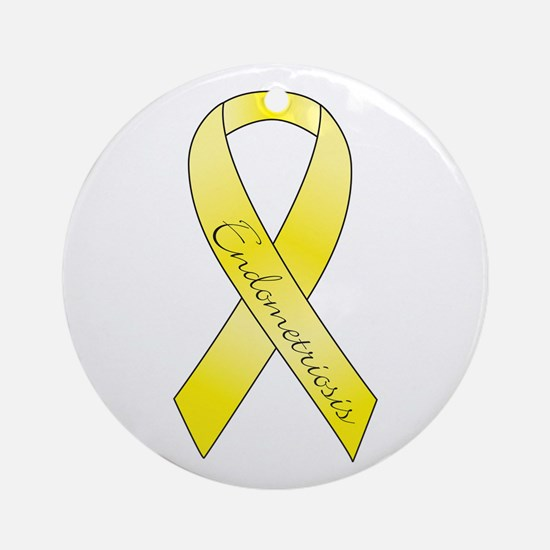Endometriosis Ribbon Ornament (Round)