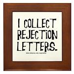 Rejection Letters Framed Tile